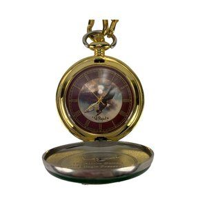 Franklin Mint Alaska Bald Eagle Pocket Watch BY TE